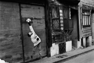 Soccer game in Istanbul streets, 1998