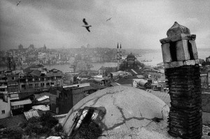 View of Istanbul from an old caravanserail, 1998