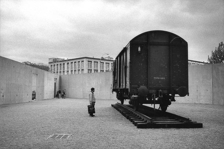 """Freight train"", installation of Yoko Ono at MoMA PS1, Queens, New York, 2003"