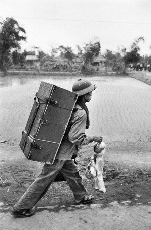 Soldier on the road, back from Saigon, 1976