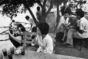 Café along the lake in Hanoi, 1969