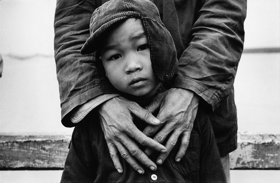 Father and son in a village of the North, 1976