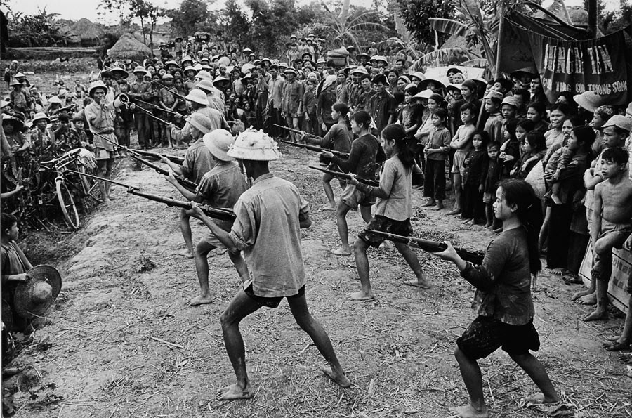 Demonstration of fighting in a village of North Vietnam, 1969