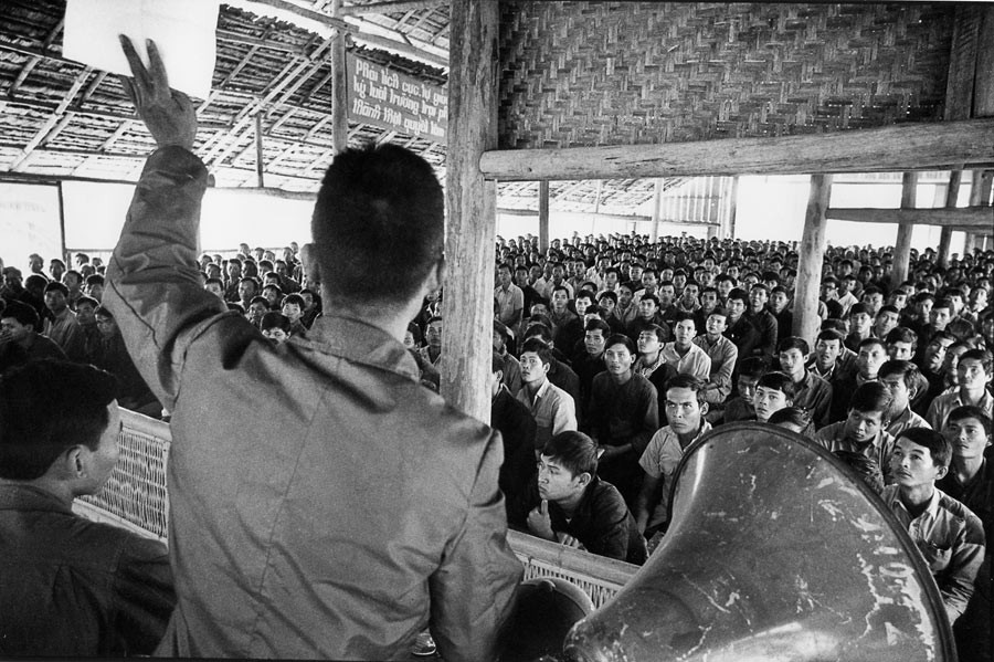 Class of political reformation for officers, in the area of Thai Ninh close to the Cambodian border, 1976