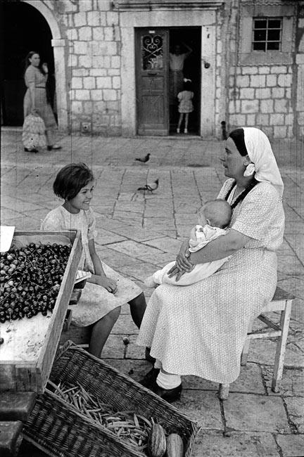 Scène de marché à Dubrovnik, 1953