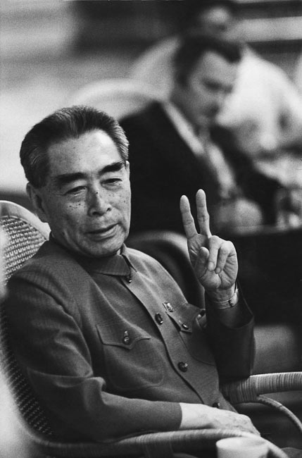 Zhou Enlai explains that he learnt two things in France - where he lived in the 20s: 1, Marxism, 2, Leninism. China, 1971