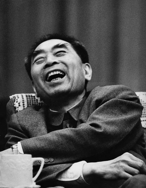 Zhou Enlai au cours d'une interview. Chine, 1965