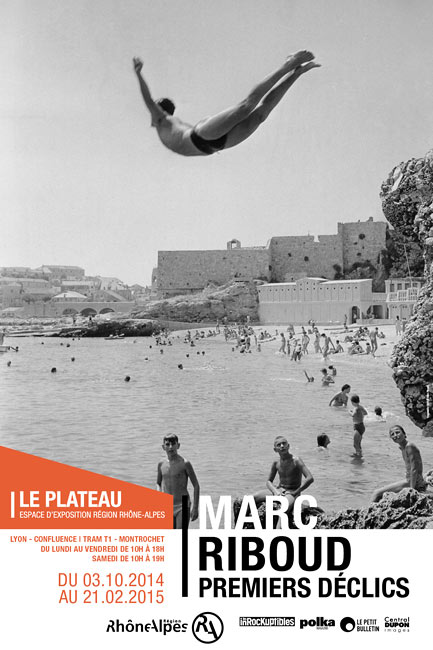 "Poster of the exhibition ""Marc Riboud, Premiers déclics"", Le Plateau, exhibition space of the région Rhône-Alpes, 2014-2015"
