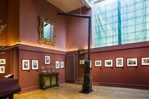 """Vue de l'exposition """"L'instinct de l'instant"""", Musée de la Vie romantique, Paris, 2009"""